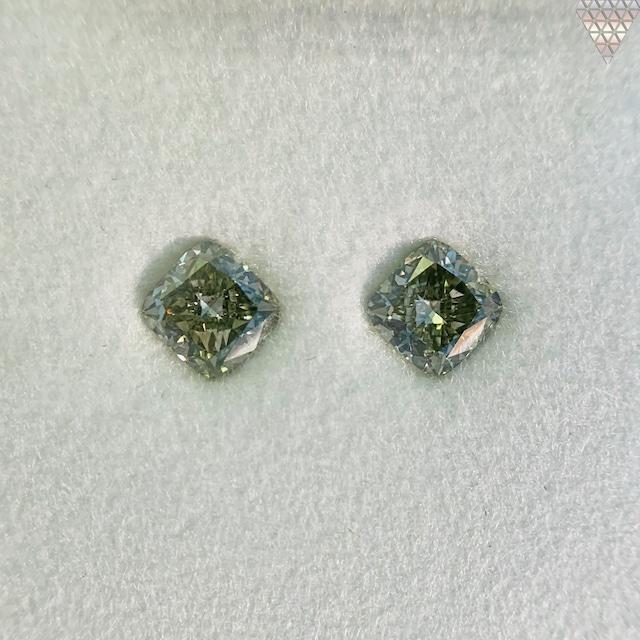 合計  0.52 ct 天然 カラー ダイヤモンド 2 ピース GIA  2 点 付 マルチスタイル / カラー FANCY DIAMOND 【DEF GIA MULTI】