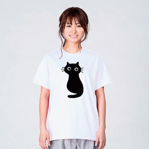 黒猫 Tシャツ ブランド メンズ レディース おしゃれ かわいい 白 夏 プレゼント 大きいサイズ 綿100% 160 S M L XL