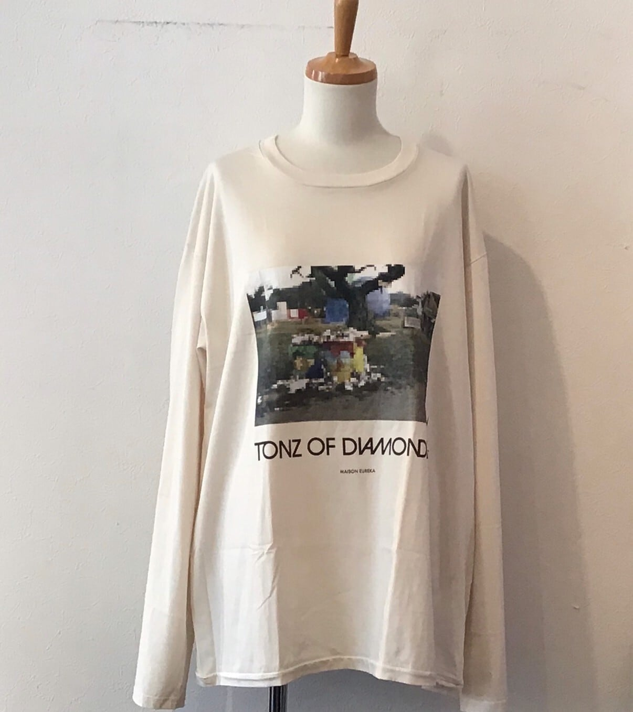 MAISON EUREKA TONS OF DIAMONDS L/S color off white size S