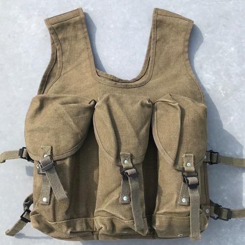 50's 60's フランス軍 グレネードベスト WAREIN LILLE アサルト ダック ユーロミリタリー カーキ M~L 希少 ヴィンテージ