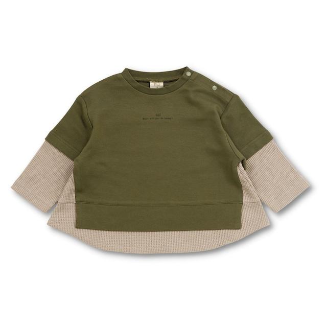 RIO 重ね着風配色ゆったりTシャツ