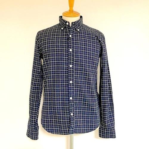 Shirring BD L/S Shirts Black Check Viyella