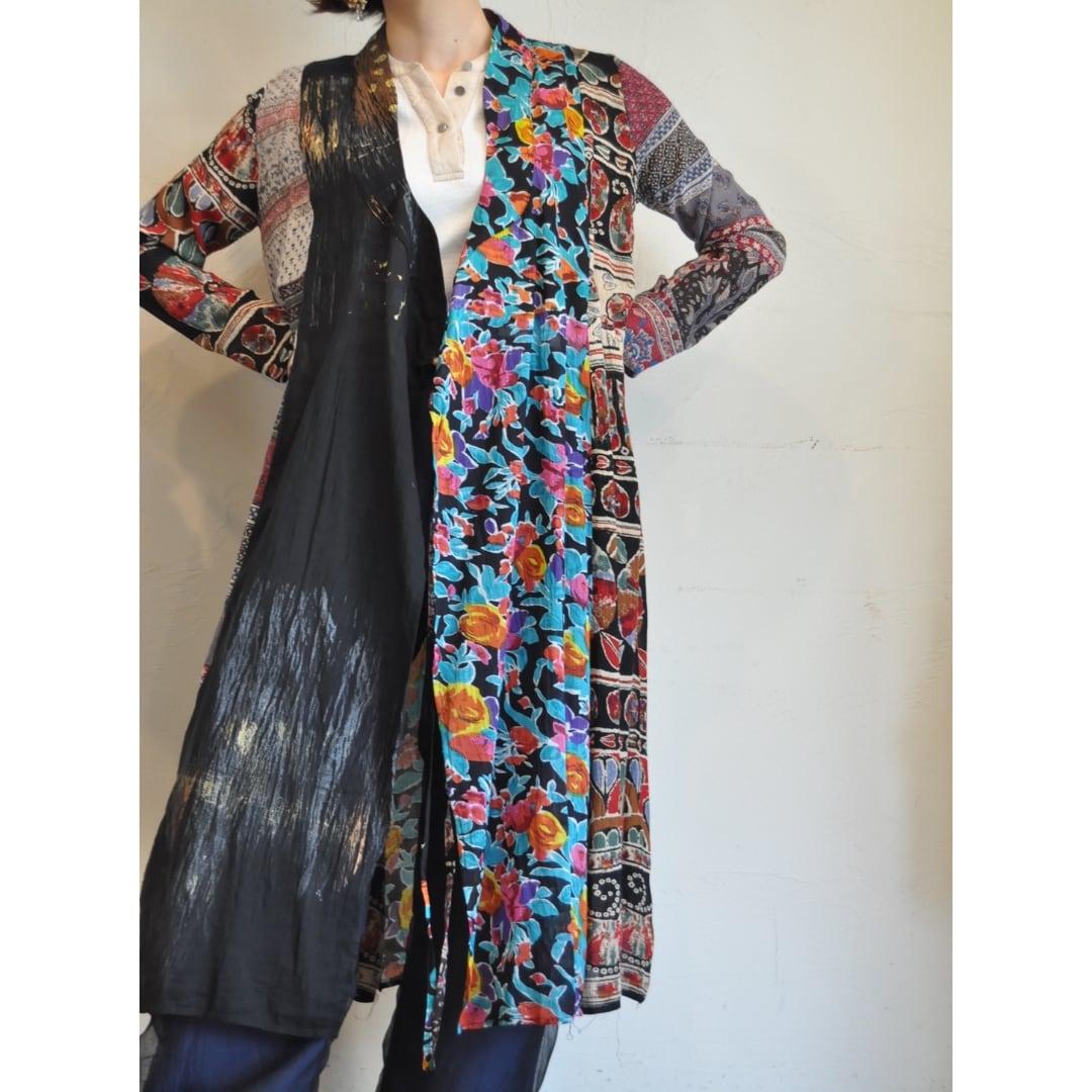 【RehersalL】ethnic gown onepiece(dark 4) /【リハーズオール】エスニックガウンワンピース(ダーク4)