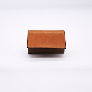 Yezo deer card case tanned special oil