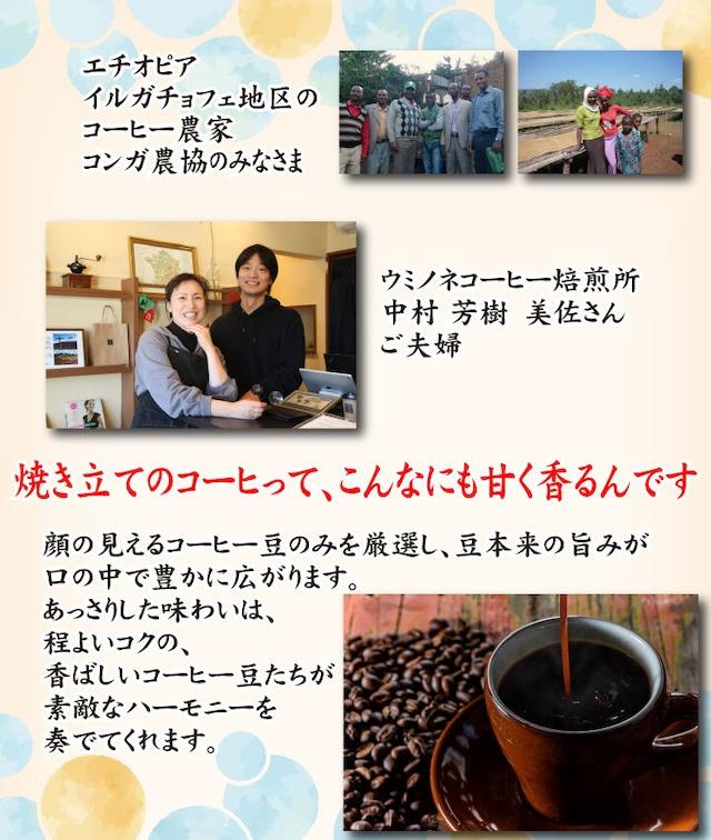 顔の見えるスペシャルティ―コーヒー200g エチオピア イルガチェフェ ナチュラル