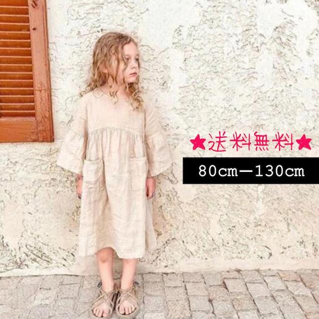 【80cm-130cm】カジュアル ワンピース (223)