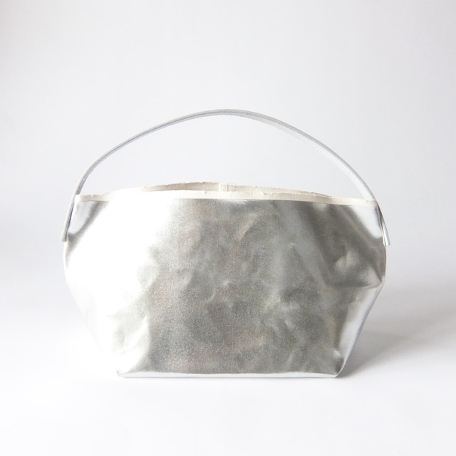 how to live - Tote Bag Mini Short Handle Medium トートバッグ - Silver