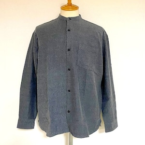 Thermolite® Viyella Band Collar L/S Shirts Charcoal