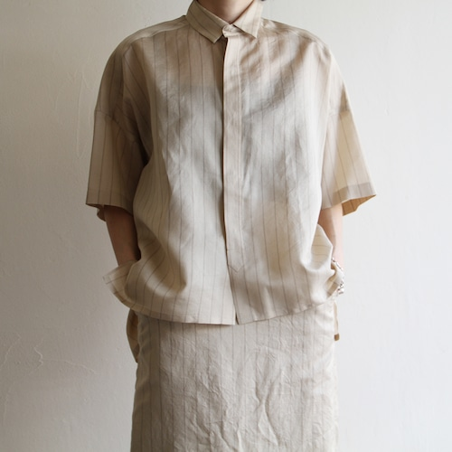 UNION LAUNCH  【 womens 】silk stripe shirts