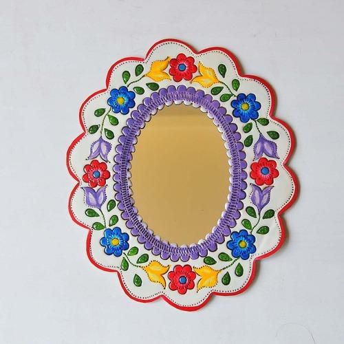 メキシコ ブリキ鏡(001)