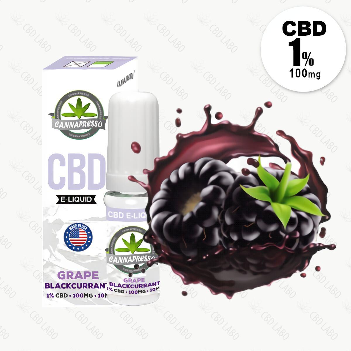 【送料無料】CANNAPRESSO CBDリキッド グレープ・ブラックカラント 10ml CBD含有量100mg (1%)