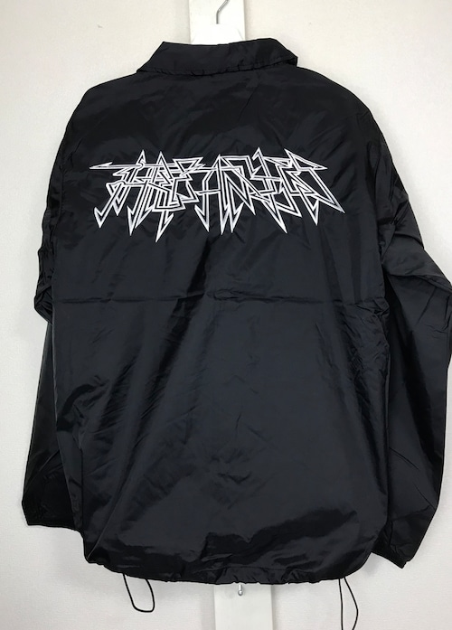 Nylon coach jacket -geometry pattern-