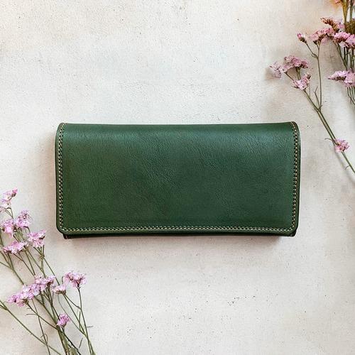 グリーンの長財布
