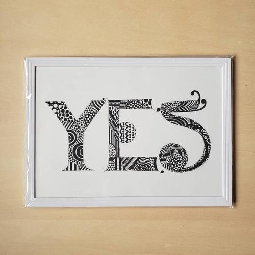 【A4ポスター・フレーム付・ホワイト】YES(New Language, New Communication)