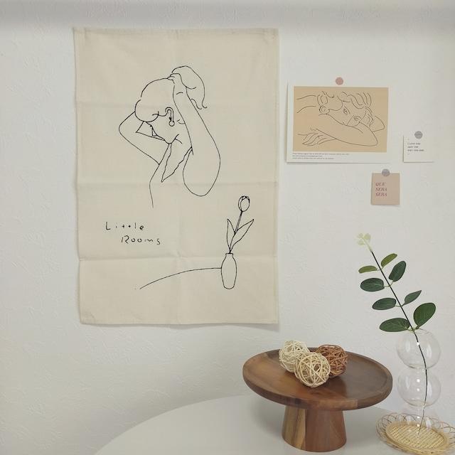 【送料無料】即納 ファブリックポスター|Little Rooms 韓国インテリア 韓国雑貨