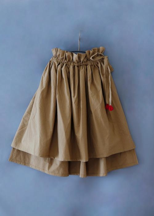 《michirico 2019SS》Asymmetry skirt / darkbeige / L・XL・XXL