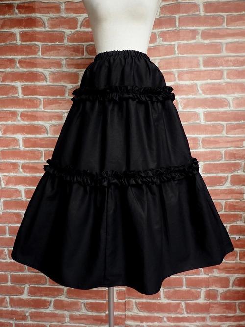 フリルロングスカート 魔女の舞踏会 黒