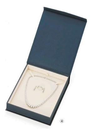 マグネット付きボックス パールネックレス・オメガネック用 イヤリング・リングセット可能 10個入り PB-013NER