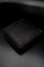 Item No.0367 :Short Butterfly wallet/Diamond python black / L-fin