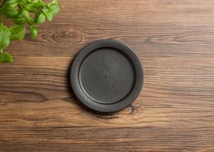 SHIROUMA 洋皿 15cm 黒(小皿・取皿・デザート皿)/長谷川 哲也