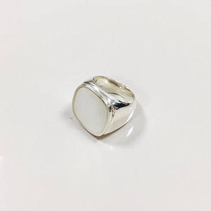RING || 【通常商品】SQUARE STONE RING || 1 RING || SILVER || FCF089