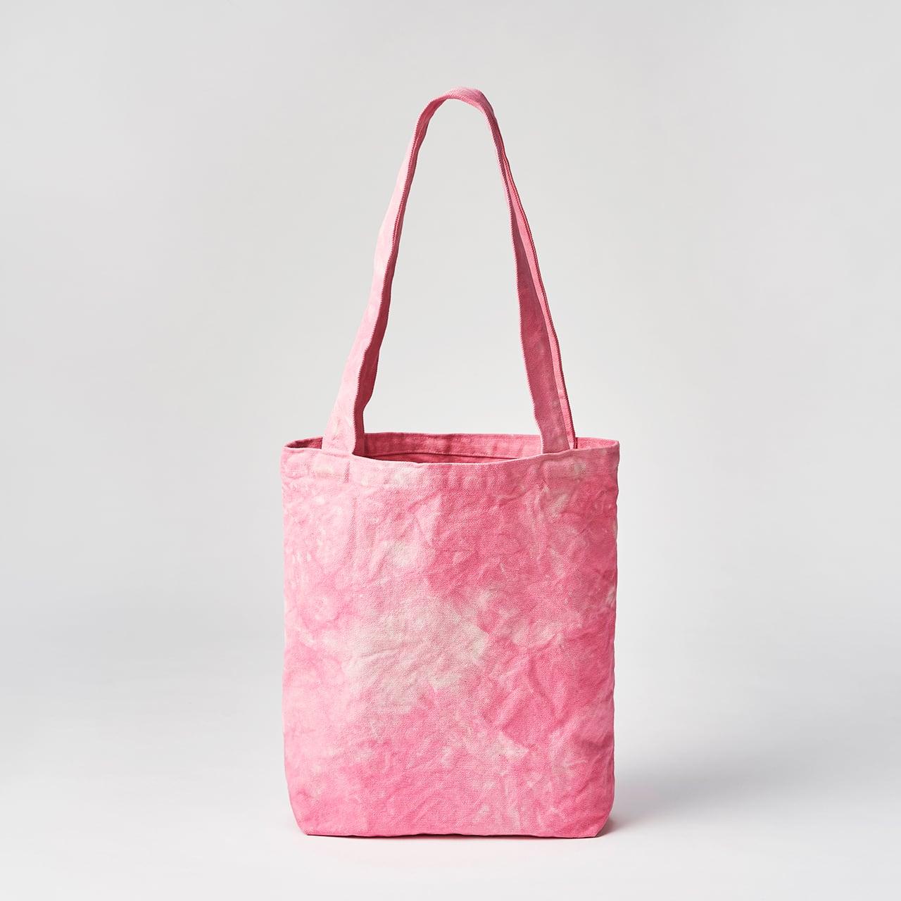 天日干し帆布のトートバッグ(ピンク)