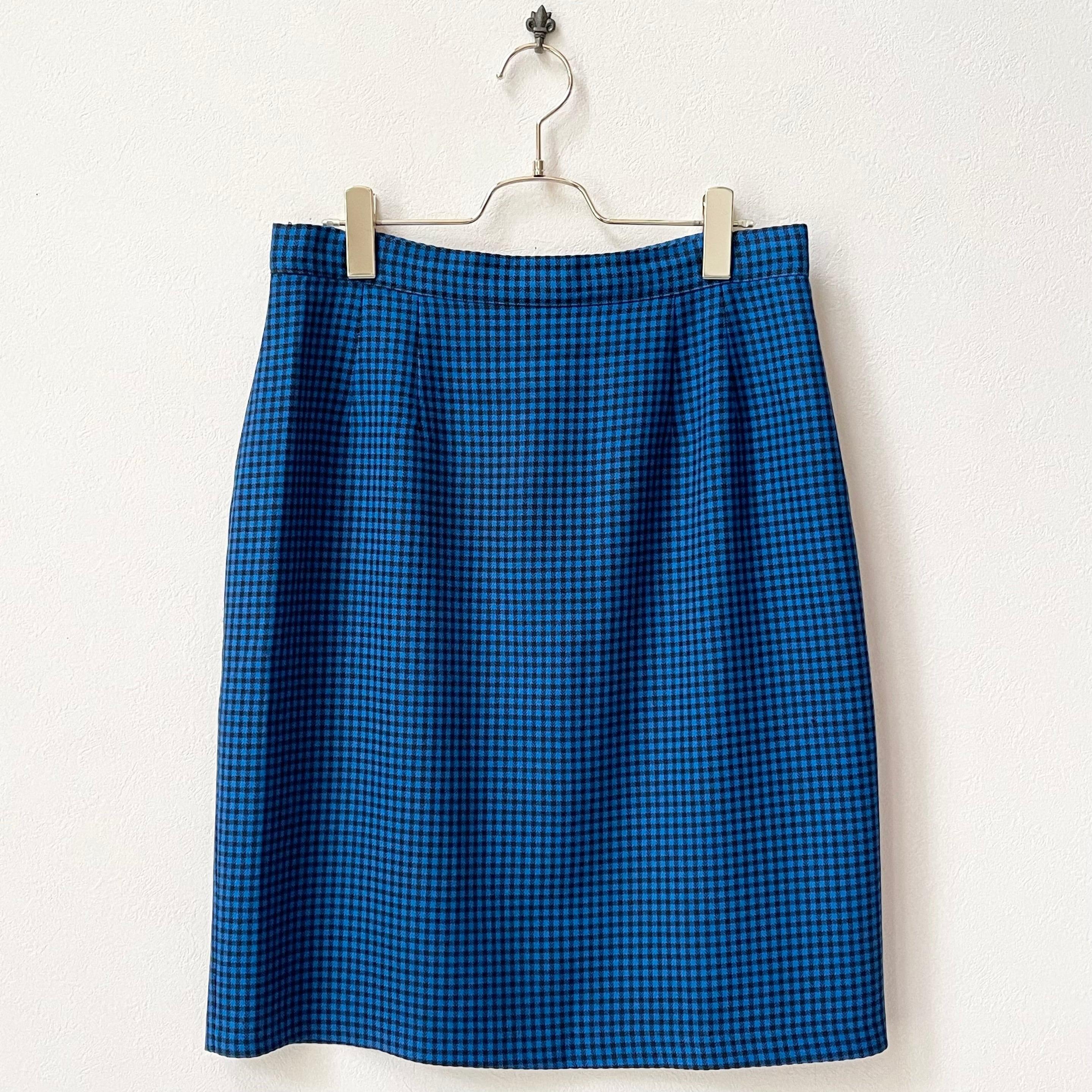 CAROLE WREN 80年代 USA製 ギンガムチェック柄 スカート 日本LL