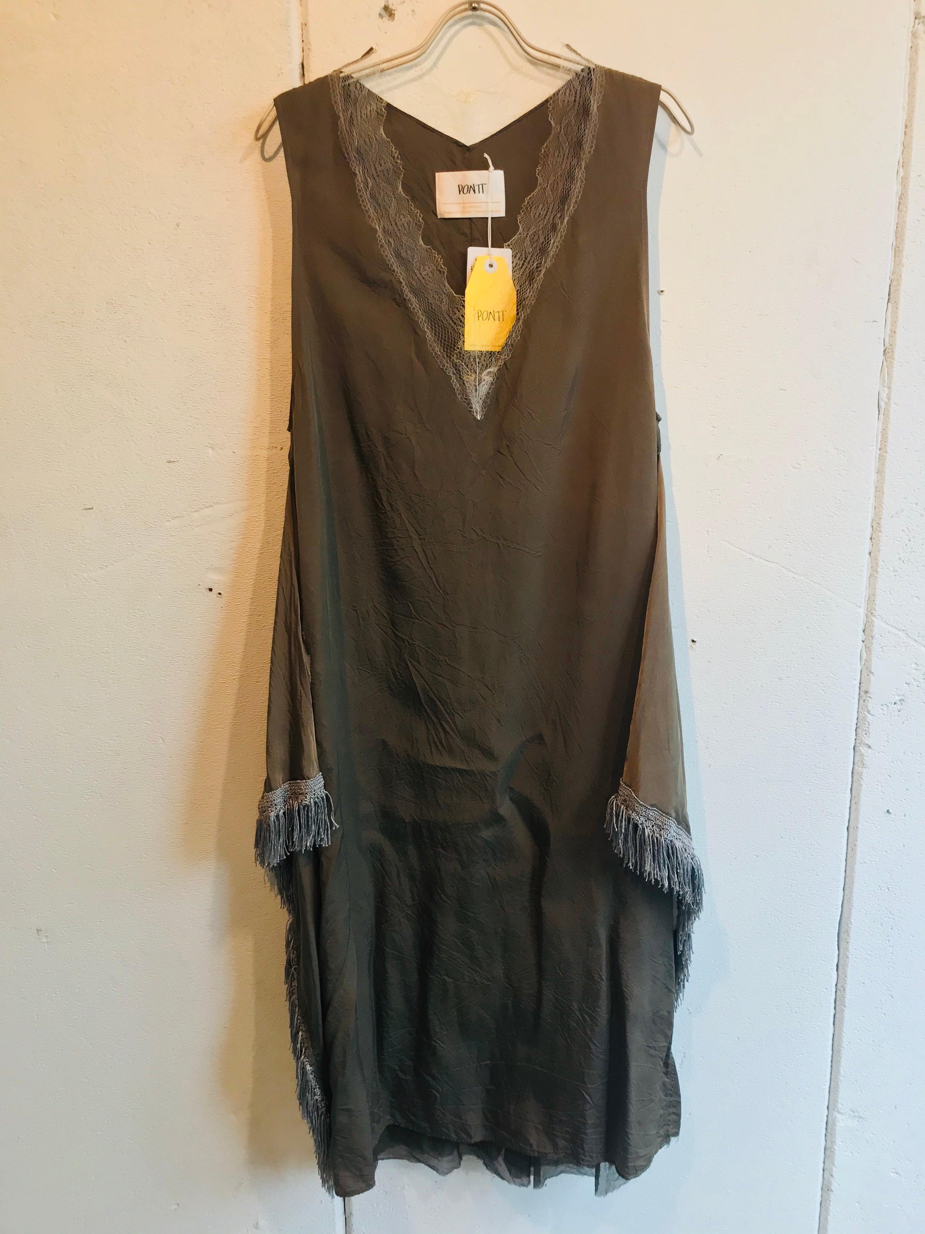 PONTI  lace combination dress