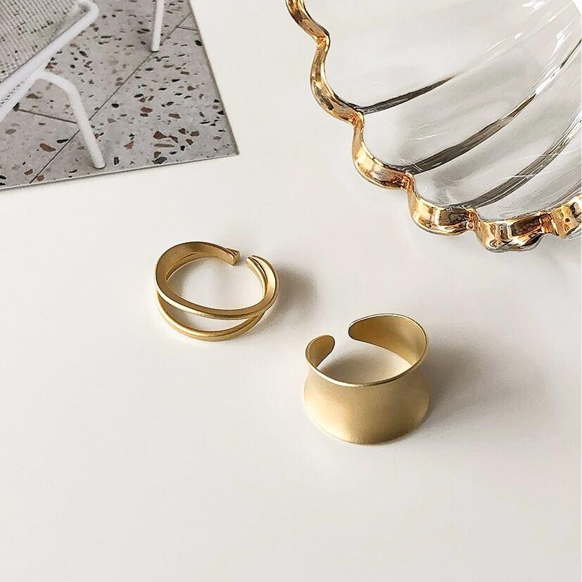 Gold open ring set(ゴールドオープンリングセット)a-462