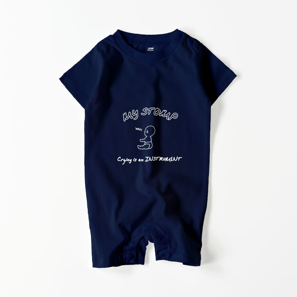 CRYING WAH BABY ROMPERS (NAVY)