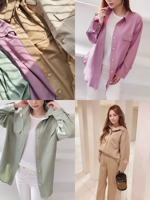 ★outletランクA★ mocoa'sカラーシャツ 定価¥6,380