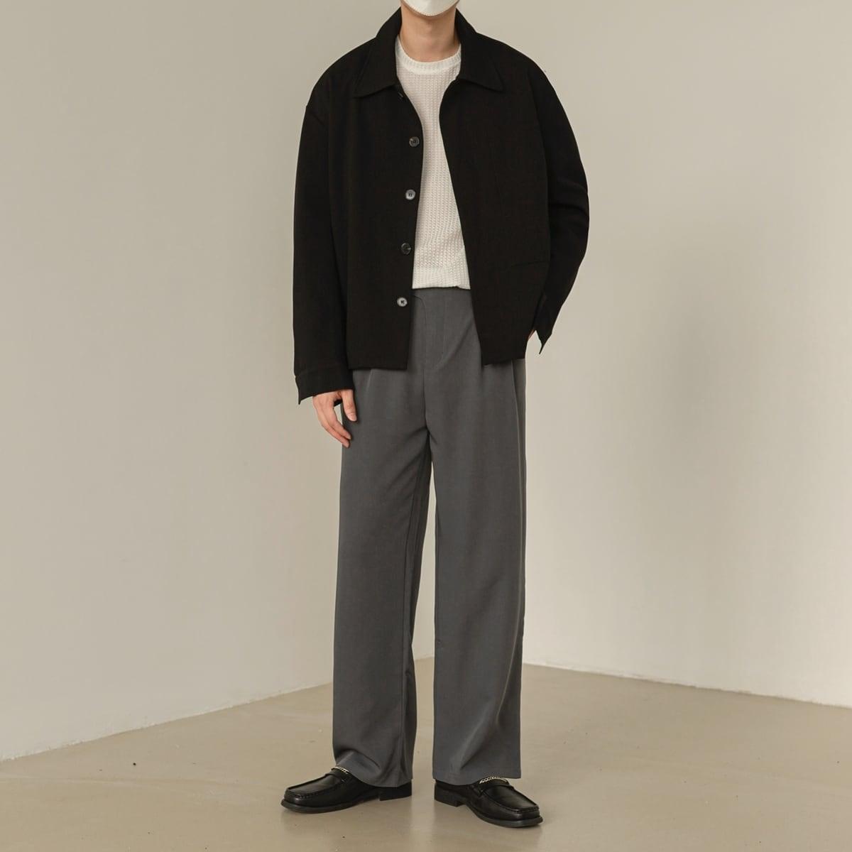 Single breasted lapel jacket   b-464
