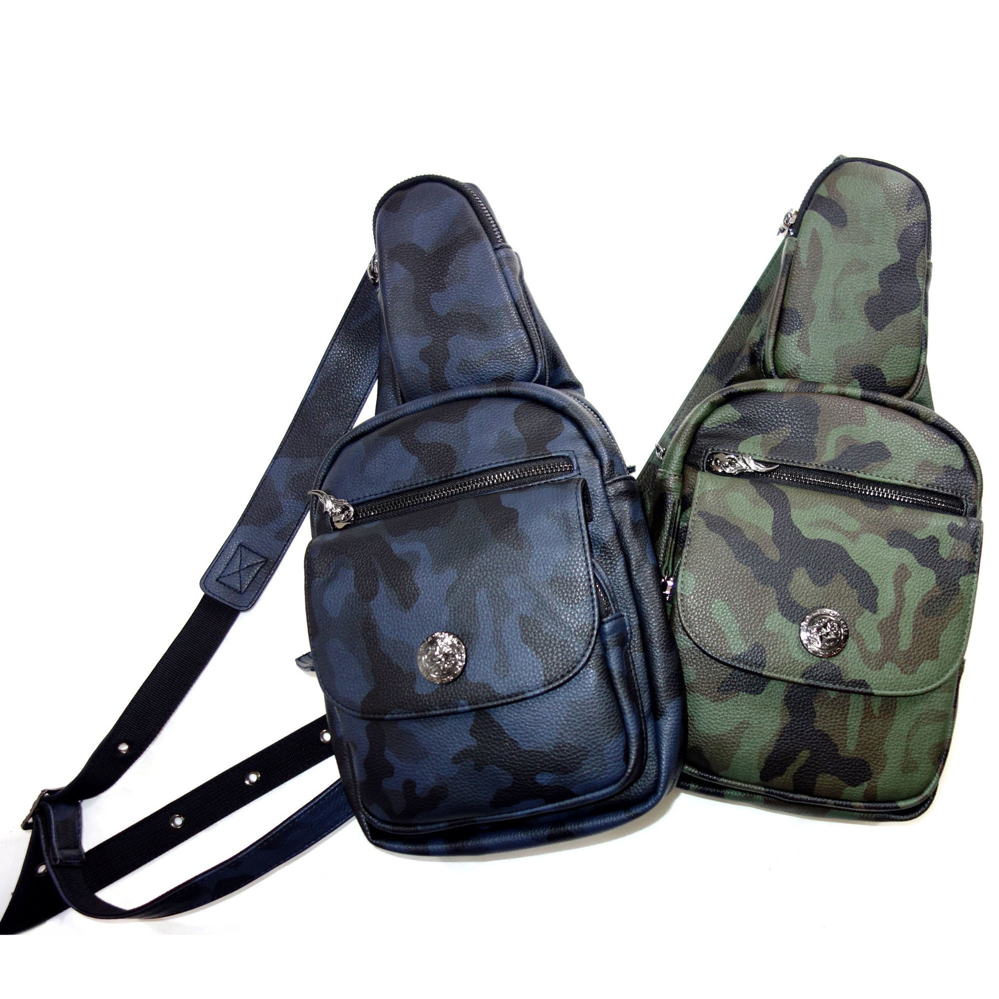 カモフラワンショルダーバッグ(ミッドナイトチャコール/オリーブカーキ) ACBG0030 Camouflage One Shoulder Bag (Midnight Charcoal / Olive Khaki)