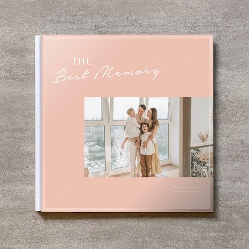 Simple pink-FAMILY_A4スクエア_10ページ/20カット_クラシックアルバム(アクリルカバー)