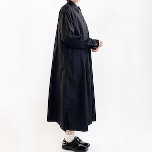 【HARVESTY】 SHIRTS ROBE BROAD CLOTH (BLACK) シャツ ワンピース  日本製 ハーベスティ