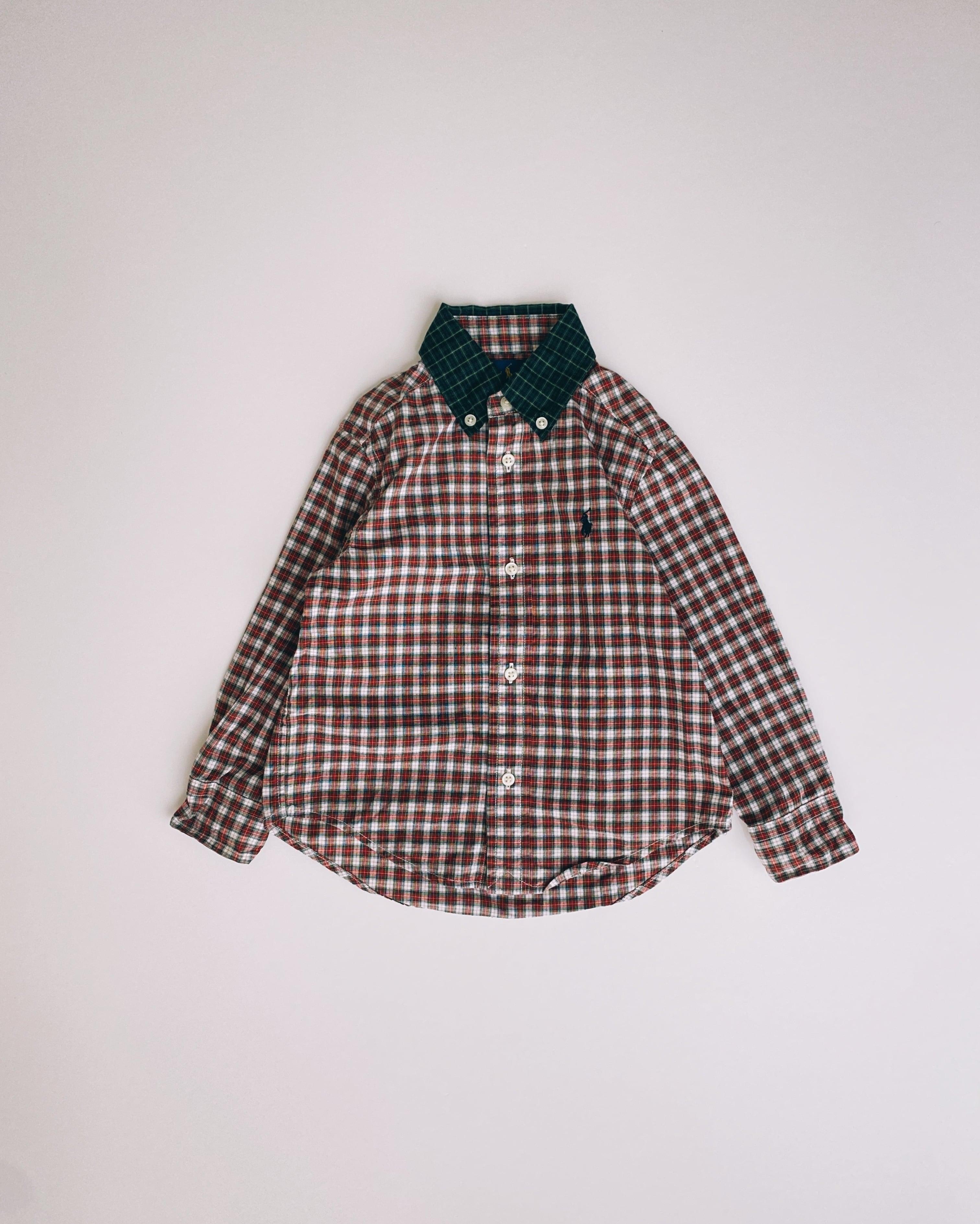 (KD070)95cm Ralph Lauren checked BD shirt