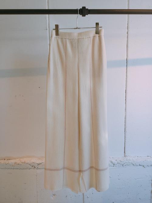 TAN   STICH RIB PANTS (OFF WHITE)