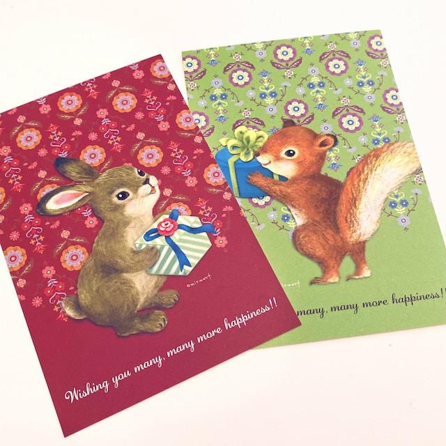 omitment(おおきひろみ)ポストカード「お祝いカード」セット
