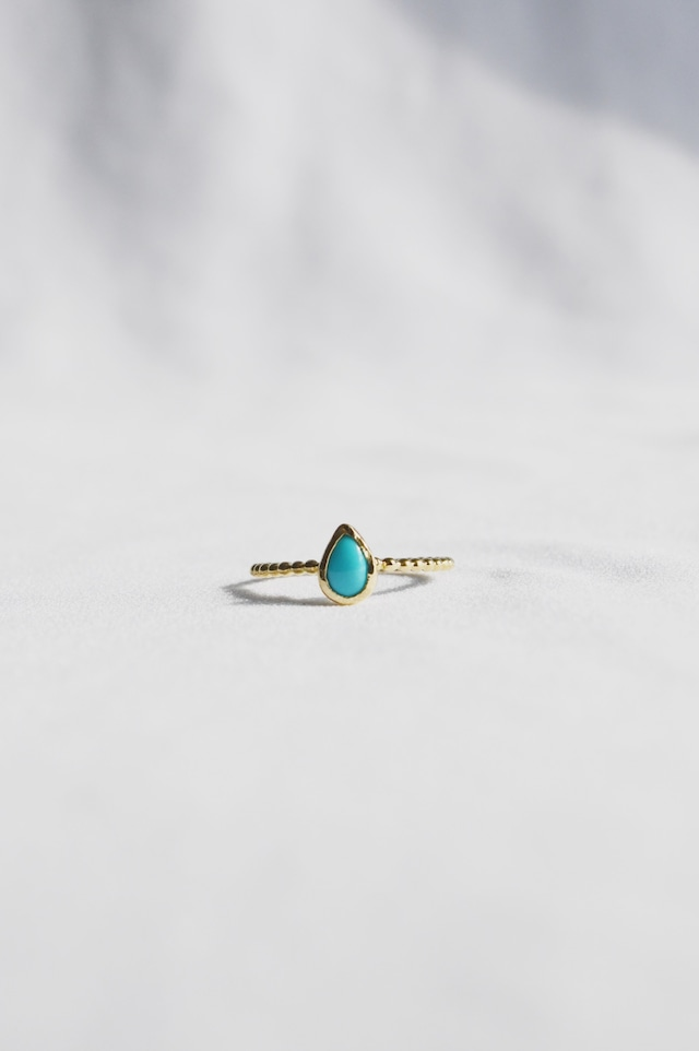 K18 Turquoise Ring seed & grain 18金ターコイズリング(種&粒)