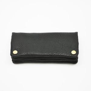 Yezo deer soft wallet tanned black