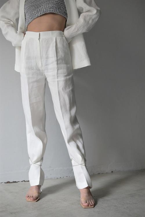 ROOM211 / Linen Trousers  (white)
