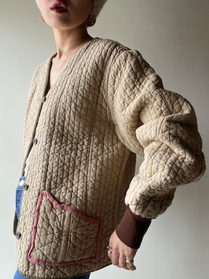 Vintage 60s Slovakian Quilt Jacket③