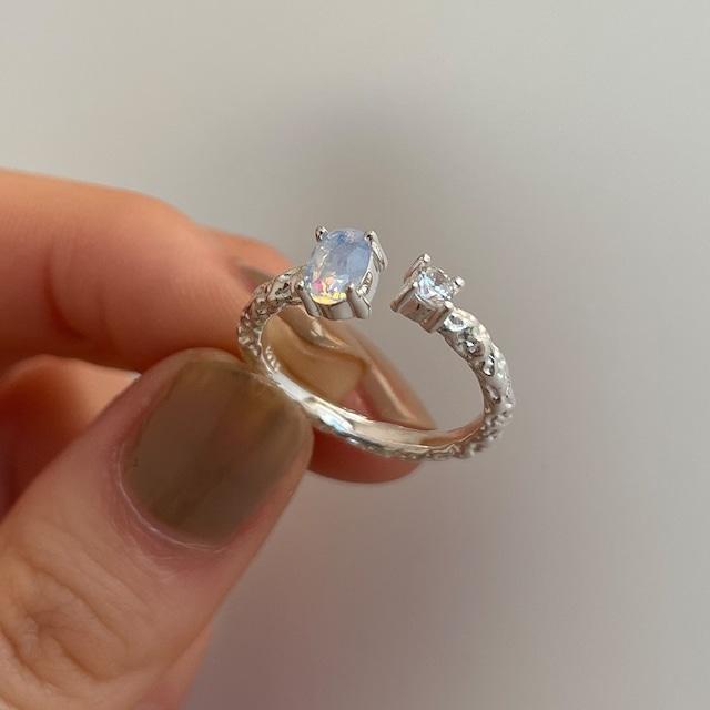 【アクセサリー】可愛いデザイン  スウィート  シンプル キュート  天然石  ラインストーン 指輪52376940