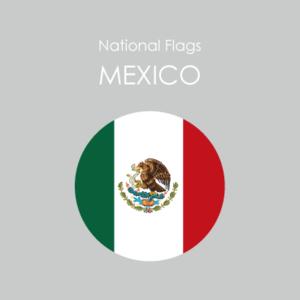 円形国旗ステッカー「メキシコ」