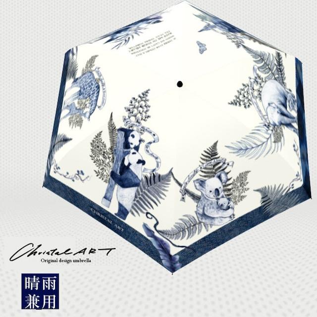 ◆受注生産◆「ラブリーファミリー柄」晴雨兼用 おりたたみ傘