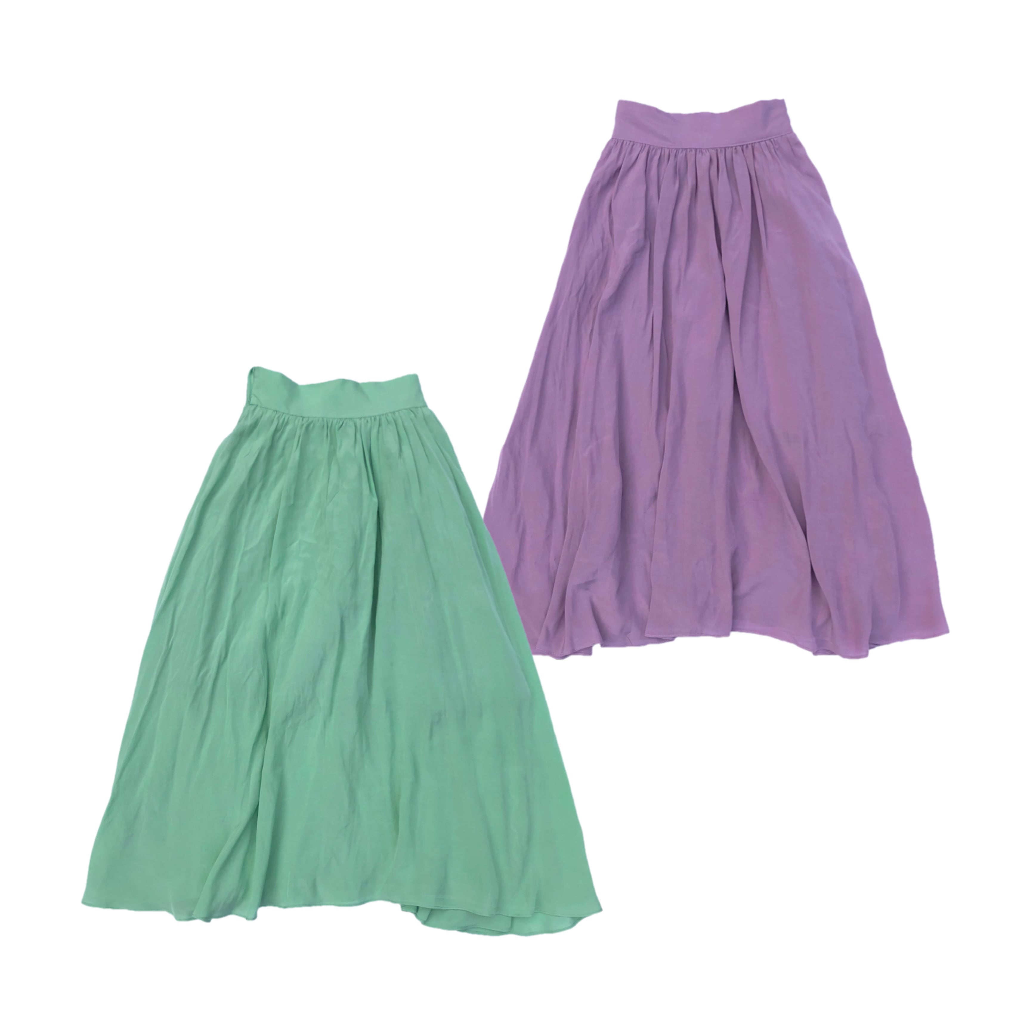 【MINT:即納】パステルカラーフレアスカート