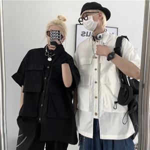 【トップス】シンプル男女兼用カジュアル無地ポケット半袖Tシャツ46930577
