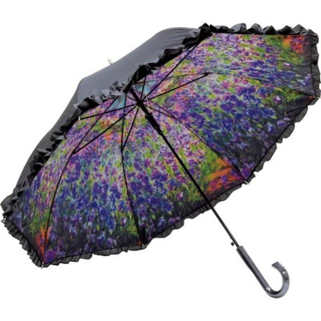 傘 晴雨兼用 UVカット【モネ アイリスガーデン 傘】浜松雑貨屋C0pernicus