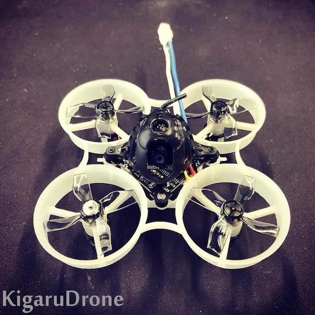【KigaruDroneオリジナル】Kigaru65B 1S 65mm Brush Whoop BNF 7mm 19000KVブラシモーター Futaba / Frsky