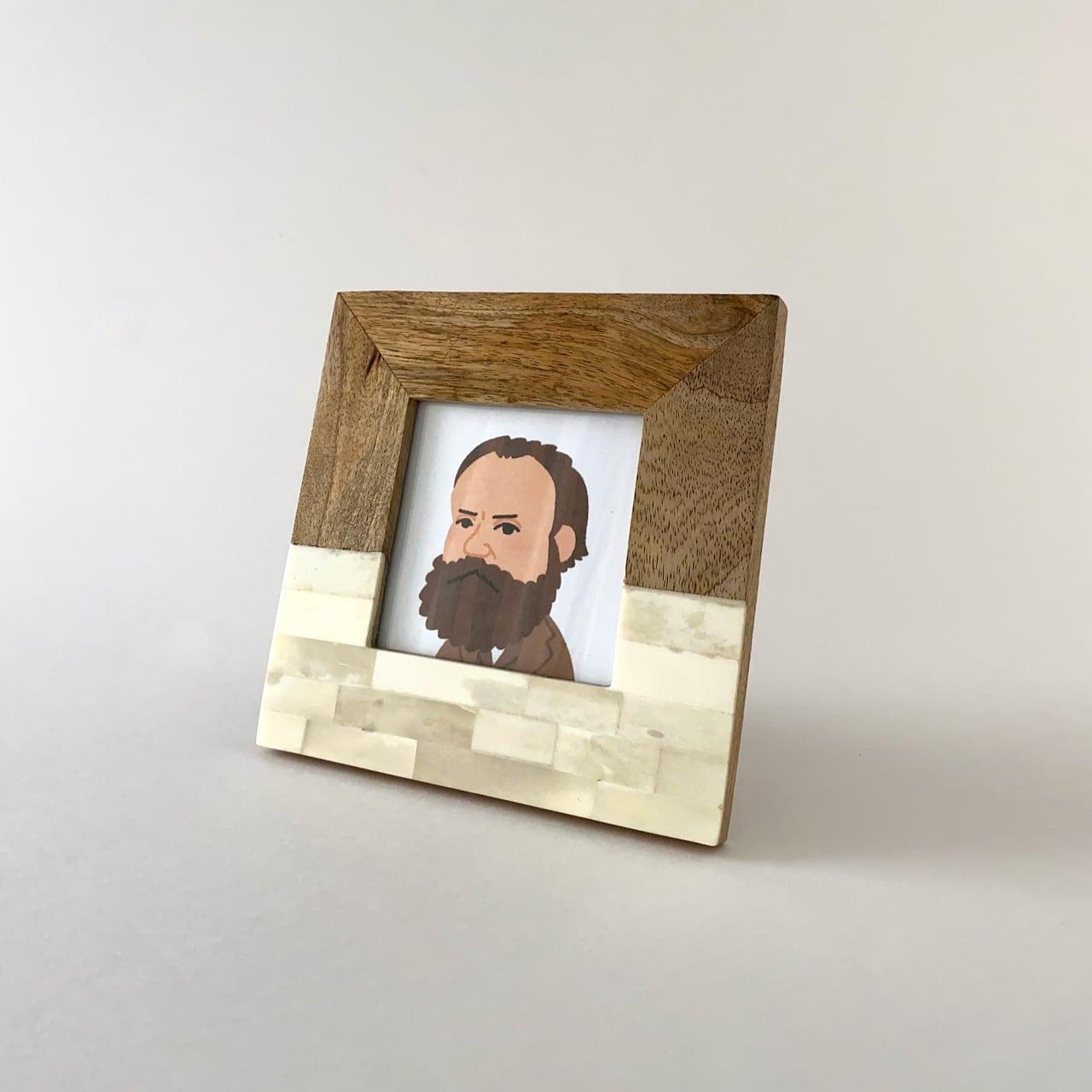 Half Bone Half Wood Frame フォトフレーム(16.5cm)